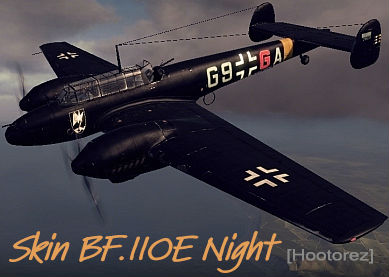 Шкурка Bf.110E Night для World of Warplanes