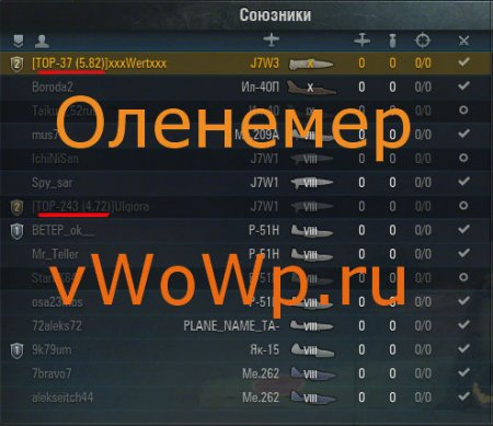 Папкомер подобие Оленемера для World of Warplanes 1.1.2